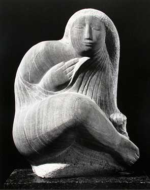 Lorrie Goulet's sculpture of a woman